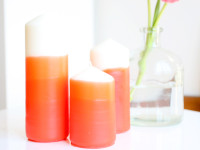 DIY Mother's Day Gift: Ombre Dipped Candles – Momtastic