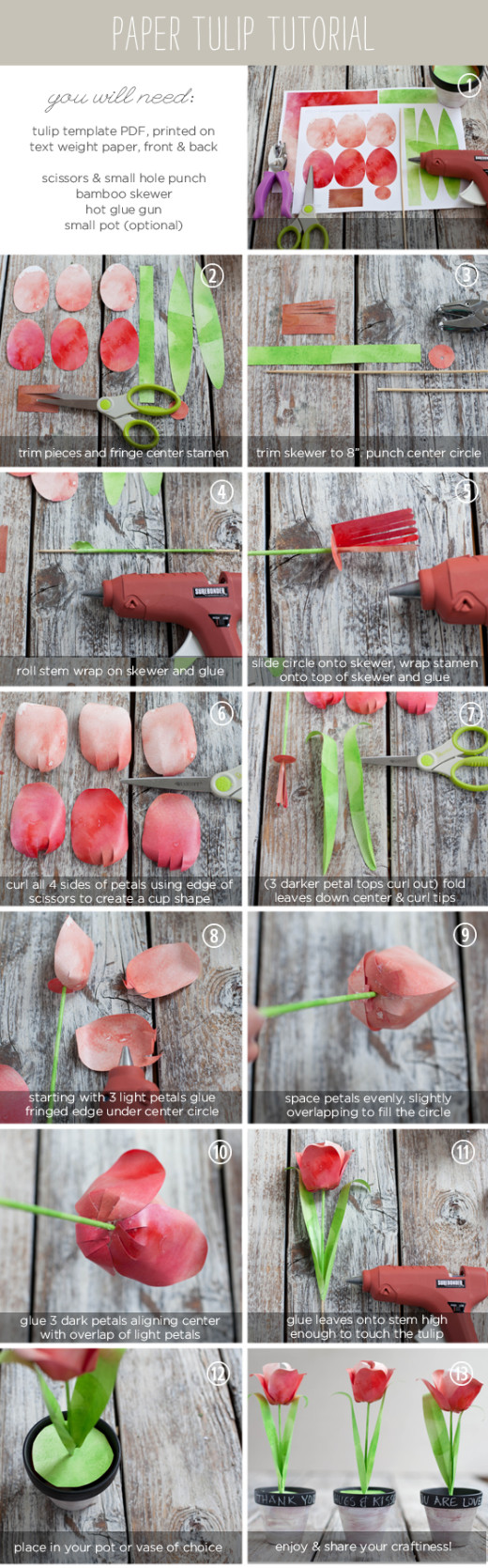 DIY Paper Tulips  | From The Elli Blog