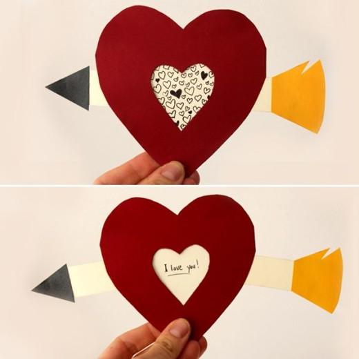 DIY Pull Tab Valentine's Day Card
