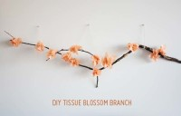 DIY Tissue Flower Branch