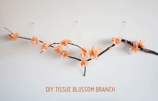 DIY Tissue Flower Branch