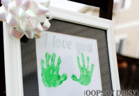 Etched Handprint Frame From Oopsey Daisy