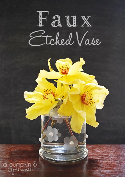 Faux Etched Vase – A Pumpkin And A Princess