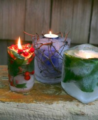 Frozen Garden Candles From Garden Therapy