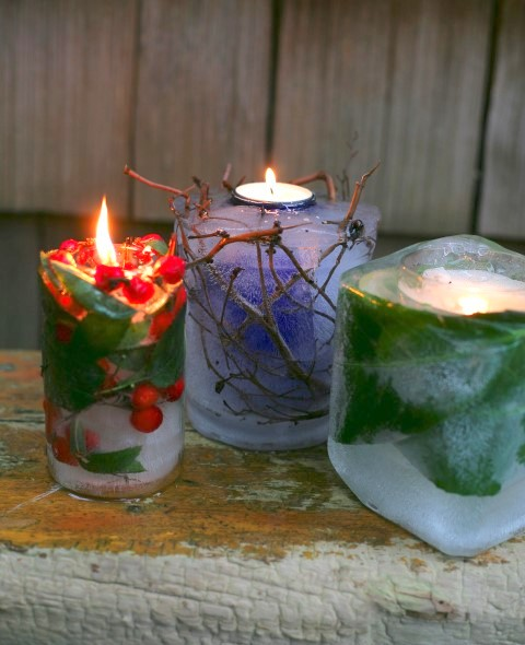 Frozen Garden Candles From Garden Therapy