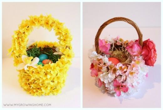 DIY: Blooming Easter Baskets