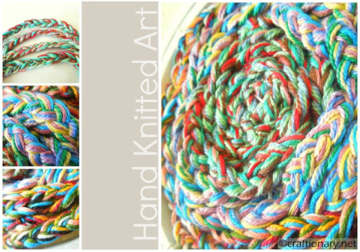 Handmade Finger Knitted Art (Embroidery Hoop) – Craftionary