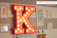 Circus marquee light from How Joyful |   DIY and Crafts