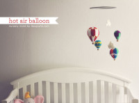 Felt hot air balloon mobile – tutorial and pattern