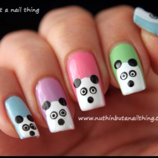 How to Create Cute Panda Nail Art