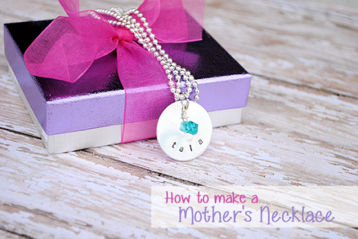 How to Hand Stamp Jewelry: Mother's Necklace