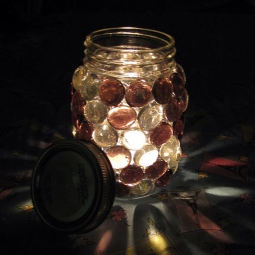 How to Make Beautiful Stone Mason Jar Candle Holders | Guidecentral