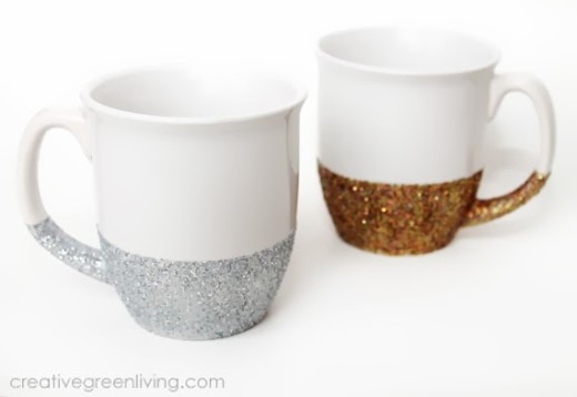 How to Make Dishwasher Safe Glitter Mugs | From Creative Green Living