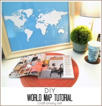How to make world map in 10 minutes (World Map tutorial)  From Craftionary