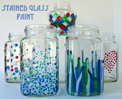 DIY Painted Stained Glass