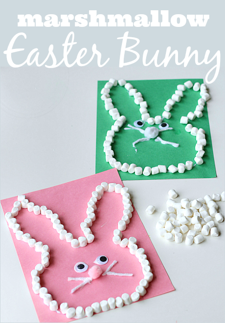 Marshmallow Easter Bunny Craft – No Time For Flash Cards