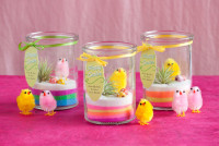 Cute mini Easter, or spring, terrariums from Evermine Blog