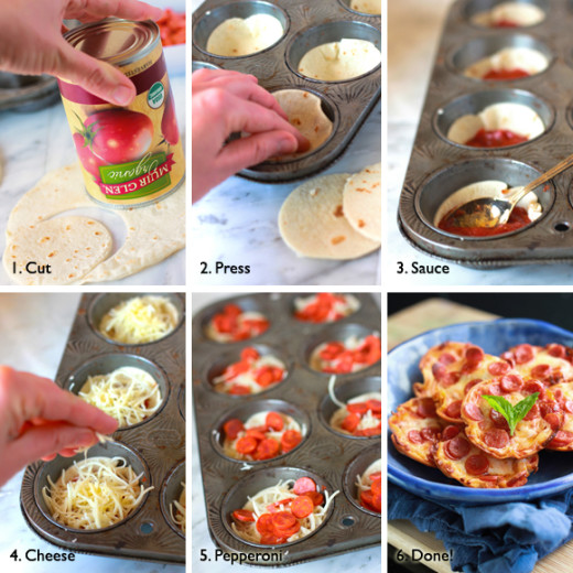 Mini Tortilla-Crust Pizzas recipe – from Tablespoon!