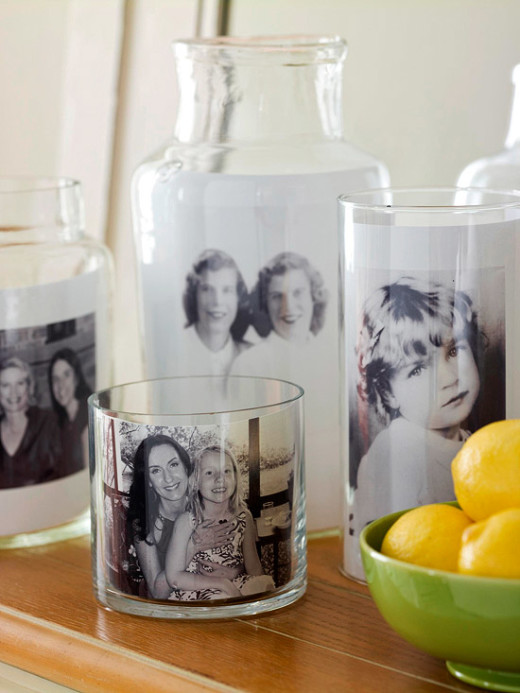 Glass Container Photo Display | Mother's Day Photo Gift