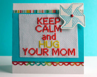 Mothers Day Embroidery Card / Mothers Day