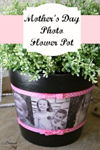Mother's Day Photo Flower Pot | DIY