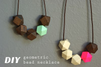 DIY Geometric Bead Necklace | Oleander and Palm