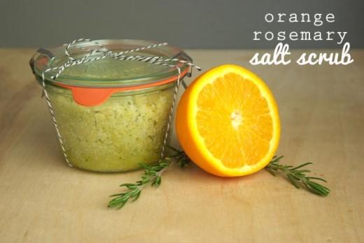 DIY Orange Rosemary Salt Scrub   Oleander and Palm