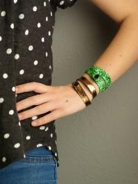 DIY Ribbon Bracelets from Oleander and Palm