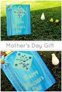 Paint and decoupage canvas- Mother's Day From Craftionary