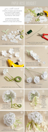 Paper Rose Wedding Bouquet | From The Elli Blog