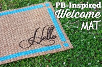 PB-Inspired Welcome Mat From  – PitterAndGlink