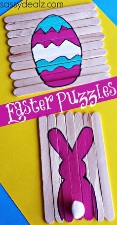 Popsicle Stick Easter Puzzles for Kids – Sassy Dealz