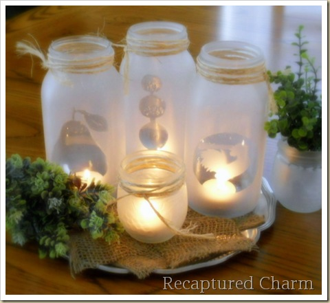 DIY Mason Jar Tea Lights From Recaptured Charm