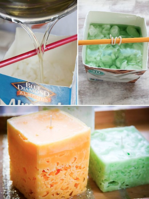 Recycle old candles and make ice candles From Henry Happened