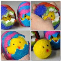 Wet Felted Easter Eggs. Learn how to make at Rosy ~ Posy