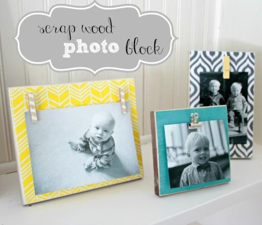Scrap Wood Photo Blocks From Juggling Act Mama
