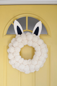 Easter Bunny Pom Pom Wreath