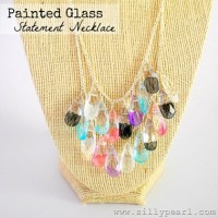 Painted Glass Statement Necklace | From The Silly Pearl {Handmade}
