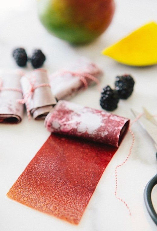 The Super Foodie :: Blackberry Mango Fruit Leather |  Camille Styles