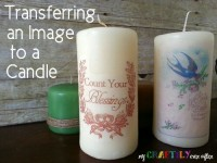 Transferring an Image to a Candle – Easy Gift Series From My Craftily Ever After