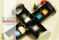 tutorial: how to make a film canister bobbin organizer