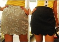 tutorial: how to sew a reversible scalloped hem skirt