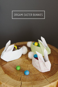 Ultra Cute Origami Easter Bunnies with Cotton Bums – Oh So Very Pretty