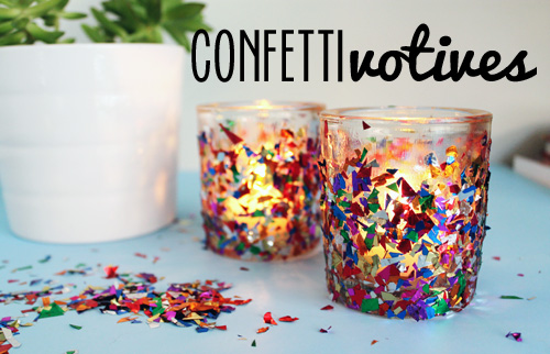 Confetti Votive Candle Holders From Unusually Lovely