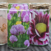 DIY translucent photo vases