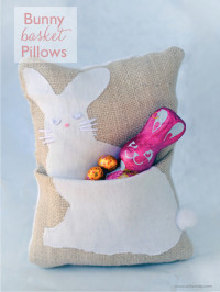 Bunny Basket Pillows | DIY Easter Ideas