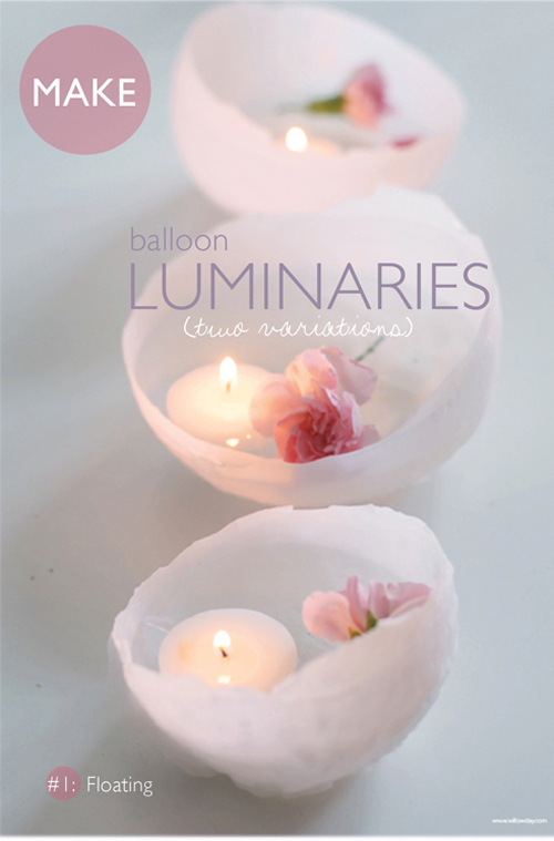willowday: Party Perfect: Wax Luminaries in 2 Variations