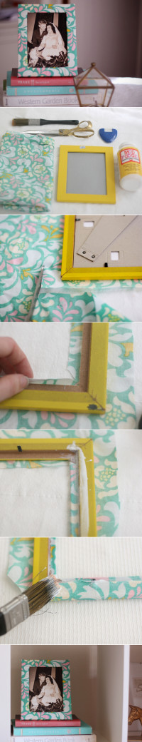 DIY: Fabric Covered Frame | From momtastic