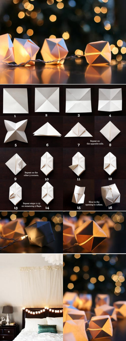 DIY: Paper Cube String Lights | From witandwhistle