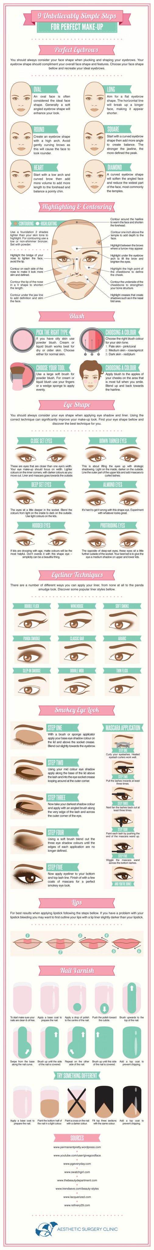 9 Unbelievably Simple Steps For Perfect Make-Up | From Visual.ly